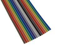 10Ft 16P Multi-Color Flat Ribbon Zippable Cables 16 Conductors 1.27mm