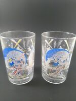 Walt Disney World 25th Anniversary REMEMBER THE MAGIC MICKEY Glasses - Set Of 2
