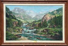 "Walter Scott Fenton ""Lead King Basin"" Original Oil Painting on Canvas, Colorado"