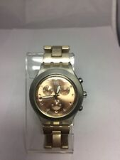 Swatch Irony Watch Diaphane Full-Blooded Caramel Chrono SVCK4047AG New Battery