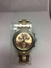 Reloj Swatch Irony Diaphane Full-blooded caramelo Chrono Svck 4047AG Batería Nueva