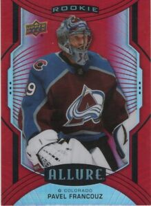 20-21 2020-21 UD Allure Pavel Francouz RED RAINBOW ROOKIE SP #143-Avalanche