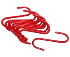 6 pcs 5-1/2 inches Utility S Hooks Durable RED PVC coated Metal Construction