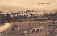 4631) SULMONA (AQUILA) PANORAMA, GREGGE DI PECORE, CARRO E CAVALLO. VG NEL 1930.