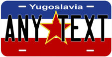 Yugoslavia Flag Any Text Personalized Novelty Car License Plate
