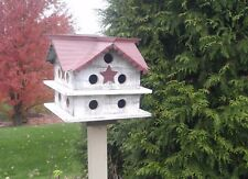 Bird House Victorian Martin Amish Handcrafted. Solid reclaimed wood. Tin roof.