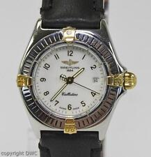 Dau Armbanduhr Damen Marke Breitling Callistino Stahl Gold Marken Uhr Uhren