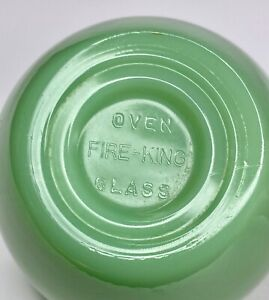 Early FIRE KING OVEN GLASS Block Mark Jadeite Restaurant Ware Cup Jadite