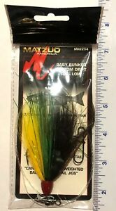 5 Matzuo Baby Bunker Bottom Drift Rigs-Low 3/0 hook 60 lb.line MR2254