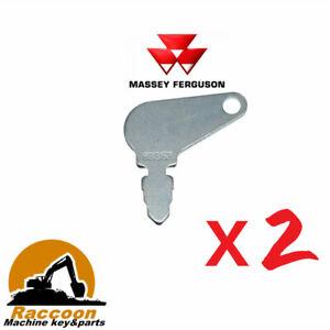 2pcs 83353 Short Hencol Key Fits Massey Ferguson John Deere case 192923M1