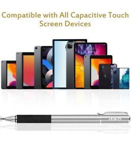 MEKO 2-in-1 Stylus Pen Disc Style Touch Screen Pen 3 Tips iPad Tablet Samsung