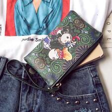 Fashion Women Ethnic Style Leather Bag Long Clutch Wallet Purse Handbag Wristlet