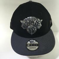 NBA New York Knicks New Era 9Fifty Black w/ Silver Logo Snapback Cap Hat NWOT