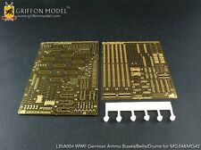 Griffon L35A004 1/35 WWII German Ammo Boxes/Belts/Drums for MG34&MG42