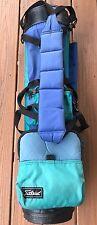 Vintage Titleist Golf Bag No Stand Blue Green Nylon