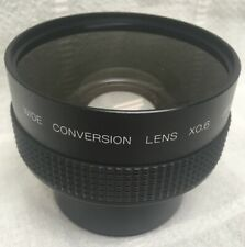 Wide Conversion Lens x0.6 0.6x Black Camera Lens Japan w Cover
