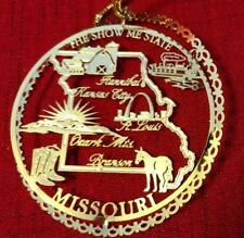 Nations Treasures Missouri The Show Me State 24K Gold Brass Ornament #2 of 2