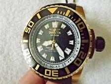 Invicta Pro Diver 14663 Black Dial, Goldtone Case, Black Strap Watch