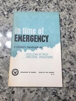 1970 In Time of Emergency Citizens Handbook on Nuclear Attack Defense March 1968
