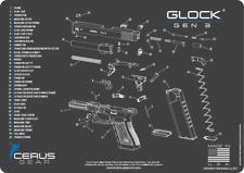 For GEN 3 GLOCK Cerus Gear BENCH MAT 17 19 20 21 22 23 26 27 34 35 36