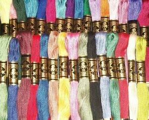 DMC Floss 1 Skein PICK YOUR COLORS #400-699 (#25 8.7yds 6-Strand 100% Cotton)