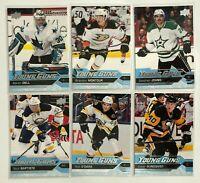 6 Card Lot Young Guns Rookie 2016-17 Upper Deck Bruins Penguins Stars Sharks