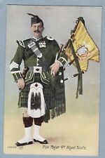 VINTAGE POSTCARD - PIPE MAJOR 4TH ROYAL SCOTS - Unposted