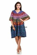 Womens Mandala Kaftan Beach Wear Boho Indian Loose Summer Wear Free Size Dress