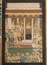 ELABORATE 19th century HINDU/INDIAN MINIATURE PAINTING gorgeous Persian Silk ?