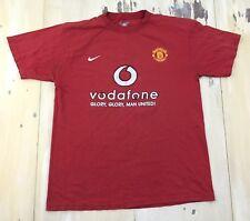 MANCHESTER UNITED - Vtg 2004 Distressed Red Football Soccer Kit T-shirt, LARGE