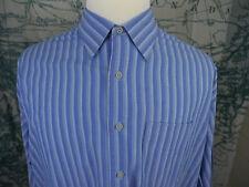 Kenneth Cole Reaction Men's Striped Shirt Button Down Light Blue SIze XXL -L822a