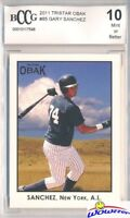 2011 Tristar Obak #85 Gary Sanchez ROOKIE BECKETT 10 New York Yankees