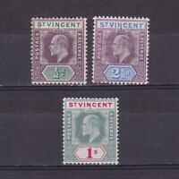 ST. VINCENT 1904, SG# 85-90, CV £62, Part set, MH/No gum