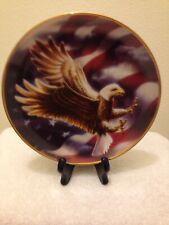 The American Eagle Flag Plate Franklin Mint Heirloom 1991 Ronald Van Ruyckevelt
