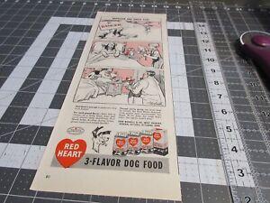 1947 vintage original ad Red Hart 3-Flavor Dog Food, Napoleon & Uncle Elby