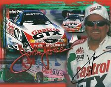 VINTAGE AUTOGRAPHED 9X NHRA CHAMP JOHN FORCE CASTROL FORD PHOTO CARD - THE CHAMP
