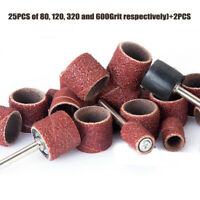 100pcs Sanding Bands Drums Sleeves Set 80,120, 320, 600 Grit Rotary Tool