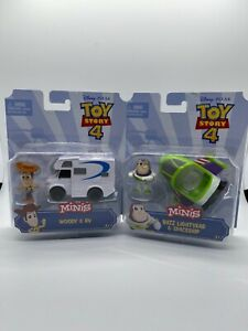 Disney Pixar Toy Story 4 MINIS Woody RV Buzz Lightyear Spaceship Set MINT NEW