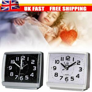 1x Quartz Large Number Bedside Table Home Decor Silent No Tick Night Alarm Clock