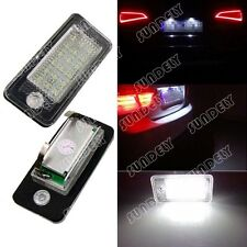 CAN-bus White Error Free LED License Plate Light Lamp For Audi S4 2004-2009 2005