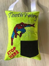 Spiderman Tooth Fairy Pillow Handmade Novelty Gift Tooth Cushion