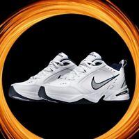 Mens Nike Air Monarch IV (Wide 4E) White/Metallic Silver 416355 102 SZ 10-13 NIB