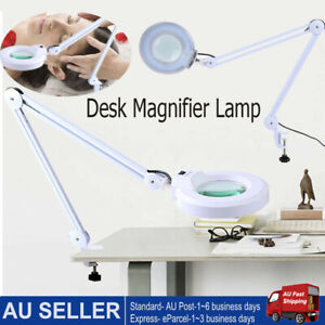 5X Magnifying Lamp Desk Clamp Work Light Craft Glass Loupe  Salon Magnifier