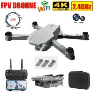 Faltbar Drohne mit Dual 4K HD Kamera FPV WIFi Mini Selfie Quadcopter *Folge Mir*