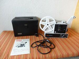 """Super 8 / Normal 8 Filmprojektor """"EUMIG Mark  607 D"""" mit Manual und Koffer TOP"""