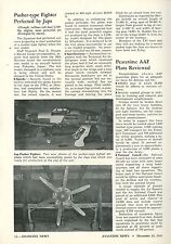 1945 Aviation Article Japanese J7W1 Shinden Pusher Type Fighter Airplane Japan
