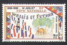 Wallis & Futuna 1980 National Day/Flags/Palm Trees/House/Festival 1v (n35982)