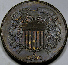 1864 Lg. Motto Two Cent Piece Superb Gem BU MS+++ BN... 100% Original and NICE!!