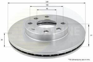 FOR CHEVROLET CORSA 1.4 L COMLINE FRONT BRAKE DISCS ADC1008V