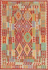PASTEL Geometric South-Western Kilim Turkish Oriental Area Rug Flat-Woven 5x7